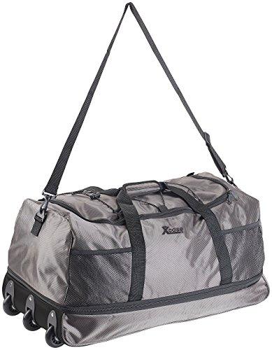 Xcase Reisetasche mit Rollen: Reisetasche mit Trolley-Funktion, faltbar, erweiterbar, 110 - 140 l (Falt Reisetaschen) (Erweiterbar Ziehen)