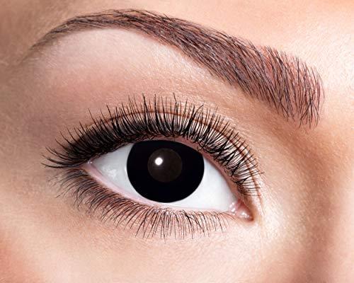 Eyecatcher - Farbige Kontaktlinsen, Farblinsen, Wochenlinsen, 2 Stück, Halloween, Karneval, Fasching, Hexe, schwarz