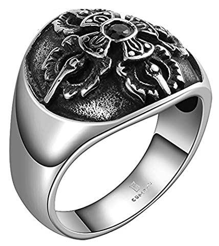 SaySure - Black Stone Ring For Man With AAA+ Cubic Zircon Diamond (SIZE :10)