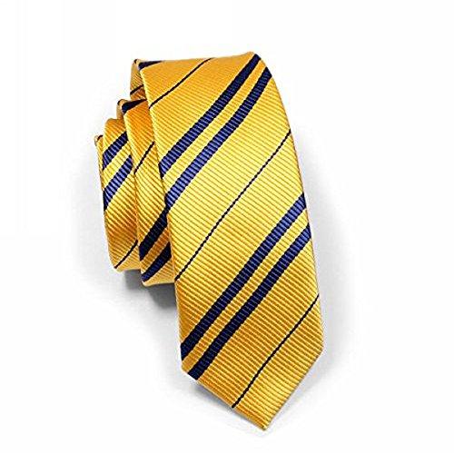 Harry Potter Krawatte 4 Farben-Gryffindor Ravenclaw Hufflepuff Slytherin NEU Gelb