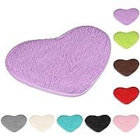 40* 28cm de forma de corazón antideslizante alfombrillas de baño, vneirw lavable antideslizante alfombra alfombra Doormats para baño, Morado, 40*28cm