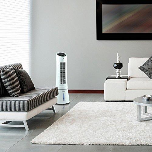 Klarstein Skyscraper Ice 4-in-1 Klimagerät Version 2019: Ventilator Luftkühler Luftbefeuchter Ionisator (3 Betriebsmodi: Normal, Nacht und Natur, 45 Watt sparsam, 500 m³/h Luftdurchsatz) weiß Bild 4*