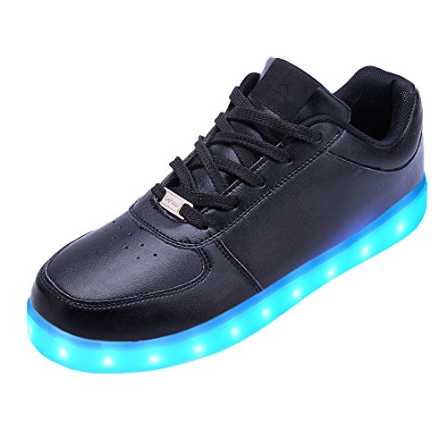 LeKuni-Zapatillas-con-Luces-LED-7-Colores-USB-Carga-Luz-Luminosas-Flash-Zapatos-de-Deporte-ParaTalla-25-43