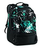 JANSPORT Air Cure Day Pack, Uomo, Black/Cabesa Blue Flitter