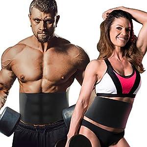 Stanbow Fitnessgürtel Bauch, Verstellbarer Schwitzgürtel & Waist Trimmer für Männer und Frauen, Slimmer Belt für Bauchmuskeln und Rückenstütze, Schwitzgürtel zur Fettverbrennung (schwarz)