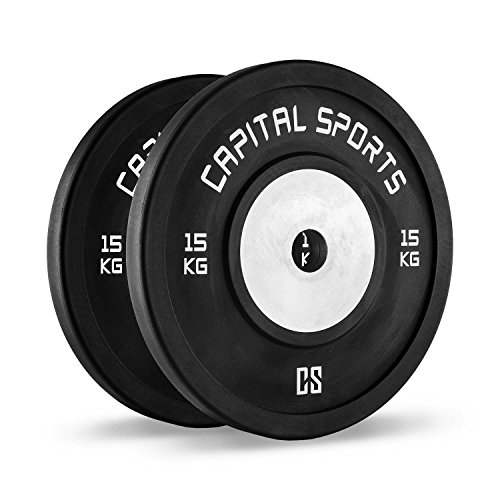 CapitalSports Capital Sports Inval Discos de Pesas Hi Grade Competition 50 mm Placas de Peso de Goma...