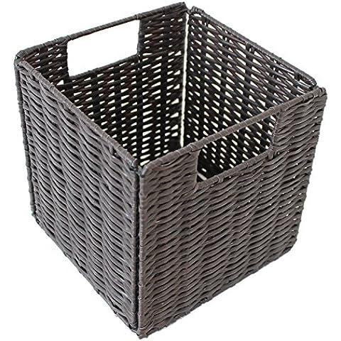 4x PP Weave Cestino Porta Mensola multiuso,