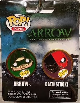 Funko Pop! Pins 2-pack Arrow and Deathstroke by Pop! Pins