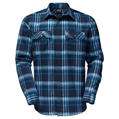 Jack Wolfskin Valley Maglietta Night Blue Checks