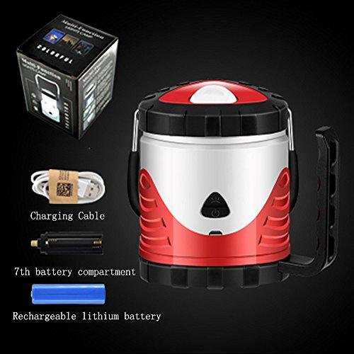 Outdoor-camping-Licht - Wieder Aufladbare Super Helle LED-Licht, Multi-purpose-Zelt Lampe Camping-Licht, USB-Ladekabel, Innen-und Außenbereich Anwenden (Leichteste Zelt)