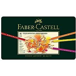 Faber-Castell-110036 Lápices de Colores, 36 Unidades,, ecolápices polychromos (110036);Faber-Castel 110036 - Künstler Farbstifte Polychromos 36Stück in Metallbox, multicolor