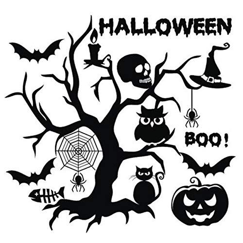 aufkleber, Halloween-Kürbisse, gruselige Hexe, Spinne, Fledermäuse, Wandaufkleber für Kinderzimmer, Wohnzimmer, Schlafzimmer, Kinderzimmer, Dekoration für Dekoration - H19 ()