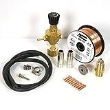 Telwin 802148 Kit Saldatura Acciaio Bombola Ricaricaricabile per Mig-Mag, 0.1 V, Multicolore, Acciaio - ricaricabile