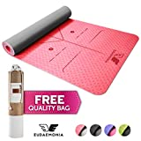 Eudaemonia Yoga and Exercise Mat with Free Stylish Carry Bag - Eco Friendly