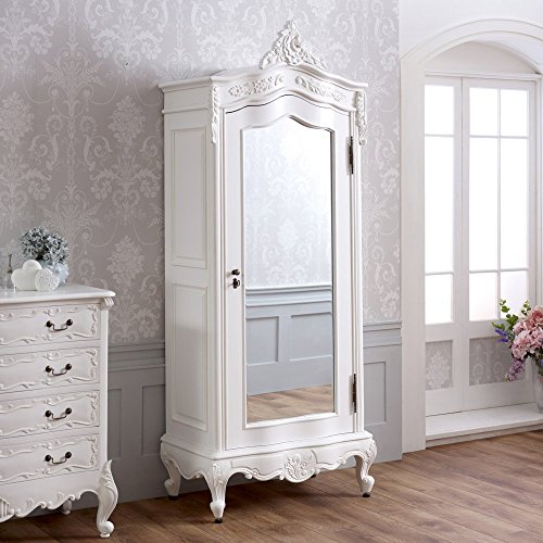 french-chateau-white-painted-small-1-door-mirrored-armoire