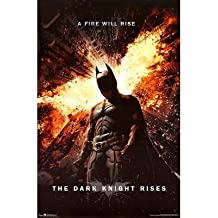 """Batman: The Dark Knight Rises - Movie Poster (Regular Style / A Fire Will Rise) (Size: 24"""" x 36"""") by Posterstoponline"""