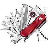 Victorinox Taschenmesser Evolution S54 (32 Funktionen, Ergonomischer Griff, Feststellklinge) rot