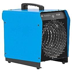 ALLEGRA Heizlüfter 9 KW Elektroheizer Heizgerät Bauheizer mit Thermostat und ca. 1,5m Zuleitung (H91)