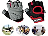 Aurion Weight Lifting Gloves with Padded & Anti-Slip Silica Gel Grip & Adjustable