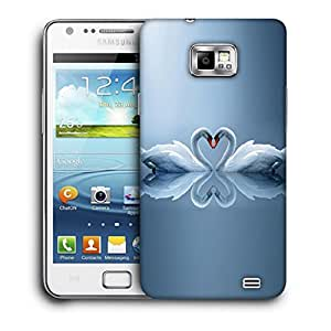 Snoogg White Swans Designer Protective Back Case Cover For Samsung Galaxy S2