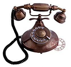 Akhandstore Table Vintage Old Rotary Dial Design Antique Telephone Table Landline Telephone (WORKING ONLY BSNL and MTNL)