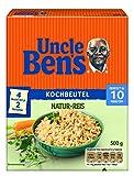 Uncle Ben's Natur-Reis 10-Minuten Kochbeutel, 4er Pack (4 x 500 g)