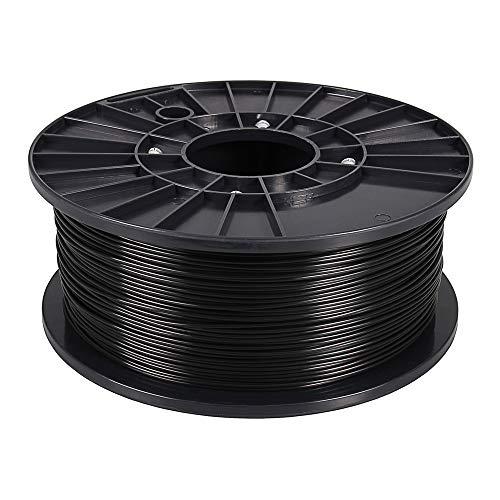 3D Drucker Filament PETG 1 kg Schwarz 1,75 mm Spule Rolle für 3D Drucker oder Stift in Vakuumverpackung premium Qualität BIO Spool 1.75mm Printer black - Spule G Stift