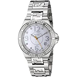 Fendi Women's 33mm Steel Bracelet & Case Anti Reflective Sapphire Swiss Quartz MOP Dial Watch F467340DDC