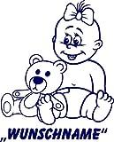 INDIGOS UG - Babystrampler / Strampler 058 mit Wunschname / Wunschtext schwarz 86/92