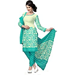 Vaamsi Women's Salwar Suit Dress Material (Cocp18_Off-White_One Size)