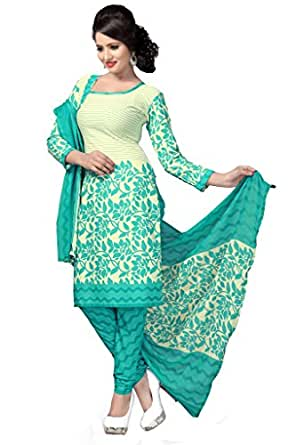 Vaamsi Women's  Salwar Suit Dress Material (Cocp18_Off-White_Free Size)