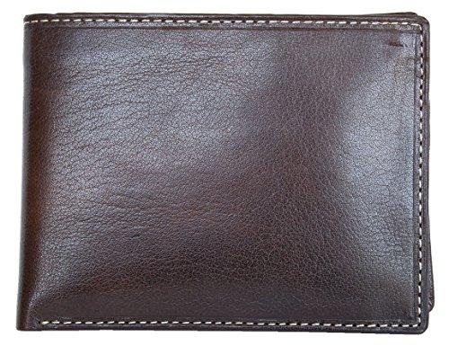 Herren Qualitäts Braunes klug konzipiert Leder Portemonnaie - Geldbörse