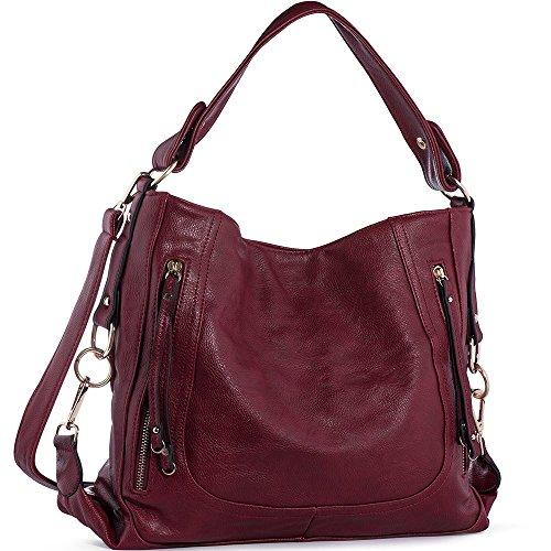 e4554a8e37771 UTAKE Damen Handtasche Umhängetaschen PU Leder Schultertaschen Frauen  Handtaschen Groß 38 30 12 cm