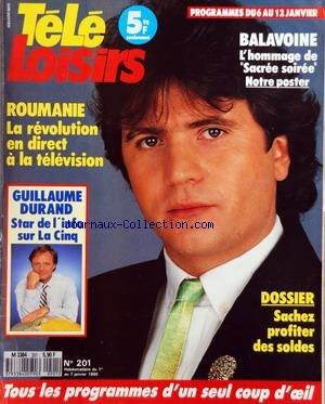 Hommage A Balavoine - TELE LOISIRS [No 201] du 07/01/1990 -