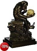 Progettare Toscano PD0053 Darwin Scimmia con il cranio Scultura