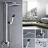 Set doccia soffione,Auralum® soffione doccia rettangolare + manopola doccia + interruttore...