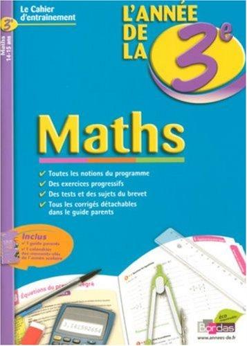 Maths : L'année de la 3e