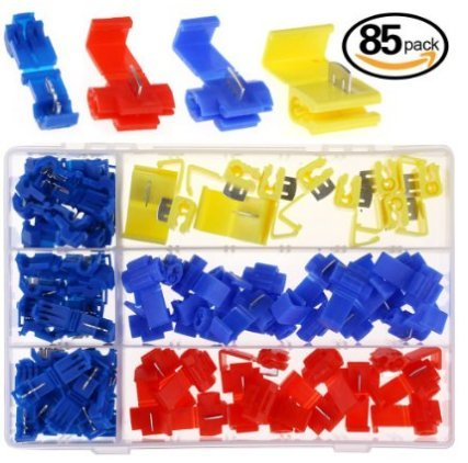 hilitchi-85pcs-quick-splice-solderless-wire-and-t-tap-electrical-connector-assortment-kit