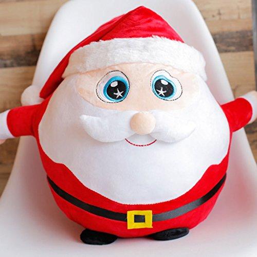 WYQLZ Cadeau de Noël Taie Oreiller Bureau à Domicile Chevet Canapé Coussin Décoration de Noël ( conception : Santa Claus , taille : 25cm )
