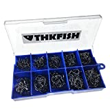 500 piezas en Caja #3~#12 carbono negro Pesca anzuelos Fishing hooks