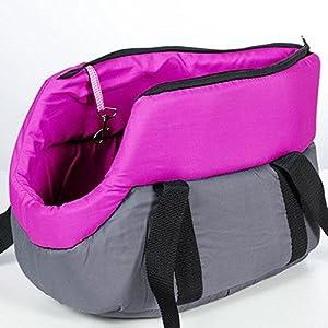 Transporttasche, Tragetasche,Transportbox, weich und bequem, für Haustiere, kleine Hunde und Katzen, pink
