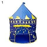 0Miaxudh Zelt Spielzeug, tragbare Faltbare Prinzessin Castle Zelt Spielhaus Kinder Outdoor Indoor Spielzeug Geschenke - Blau