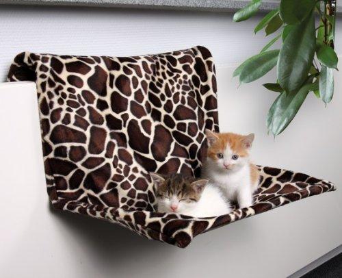 FamilyZoo ® | Liegemulde für Heizkörper | Plüsch Giraffe |48 × 26 × 30 cm, Hängematte