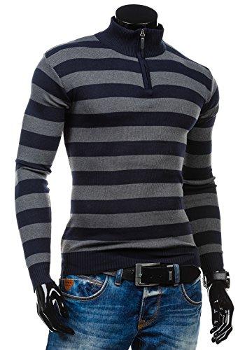 BOLF - Maglione - Tricot �?Sweatshirt �?S-WEST 6019 - Uomo Blu scuro