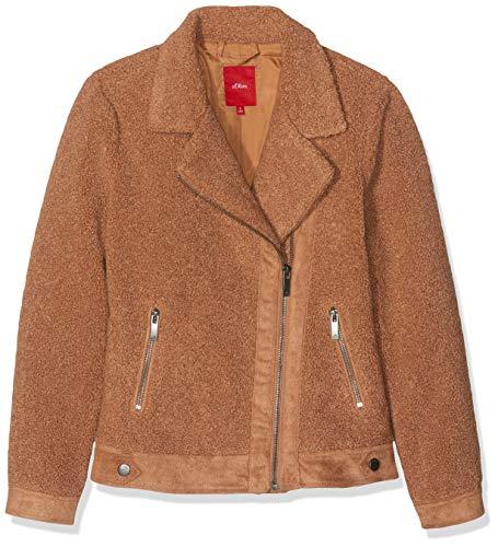 s.Oliver RED Label Mädchen Bikerjacke aus Teddyplüsch Cherokee orange XL -