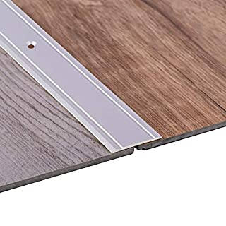 Gedotec Übergangsprofil Aluminium Boden-Leiste zum Schrauben Übergangs-Schiene für Laminat - Vinyl - Parkett | 200 cm | Bodenprofil Alu Silber | Ausgleichsprofil gelocht | 1 Stück - Türschwelle flach