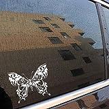 Stukk Stickers Autocollant en Vinyle pour fenêtre de Voiture Motif Papillon Tribal 20 cm x 16 cm - Blanc