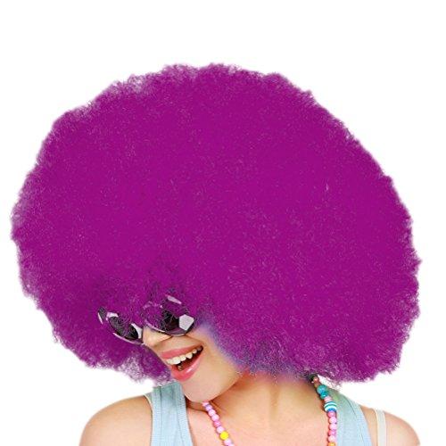 Afroperücke für Karneval Fasching Party Clown Kostüm (Lila) (Lila Afro Clown Perücke)