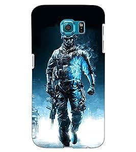 ColourCraft The Warrior Design Back Case Cover for SAMSUNG GALAXY S6 EDGE G925