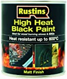 Rustins HRBL500 500ml High Heat Paint - Black